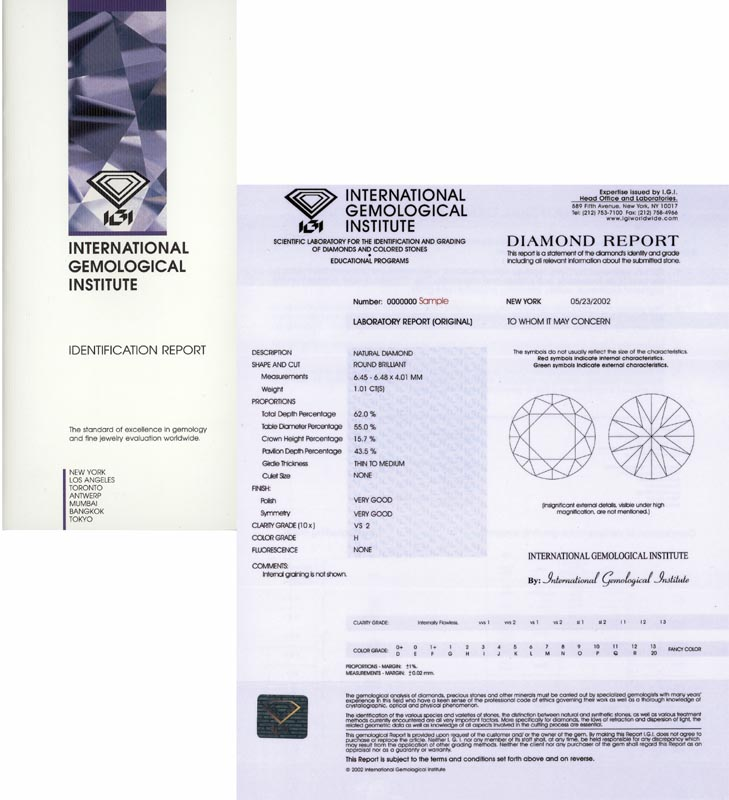 en ct la apri and fotogallery certificate new pack blister igi ref diamond